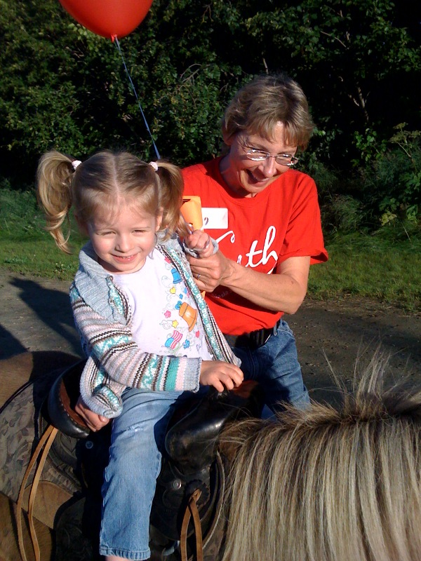Callie and Grandma pony ride